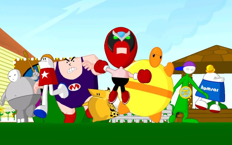 An image of the main cast of the website.